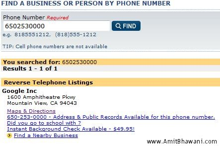 phone listing by street address