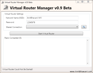 Use Virtual Router to turn Windows PC into Wifi Hot Spot