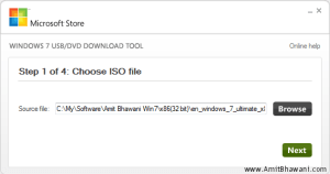 Windows USB DVD Choose ISO