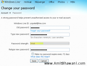 How to Change your MSN Messenger Password