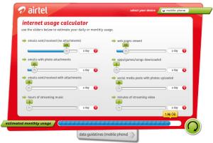 airtel internet calculator