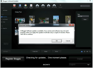Sony Bloggie Download Updates