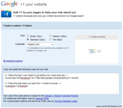 Google +1 button sizes