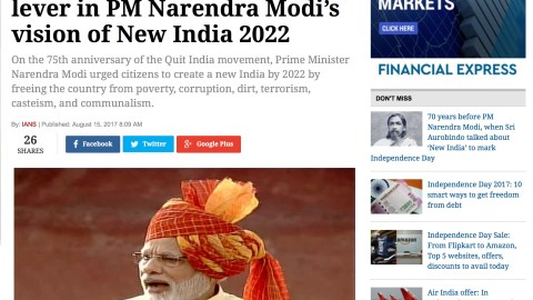 Shared Value an important lever in Prime Minister's Vision of New India 2022