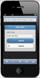 todo app for iphone ipad using jquery  mobile and web storage