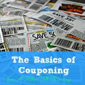 the basics of couponing