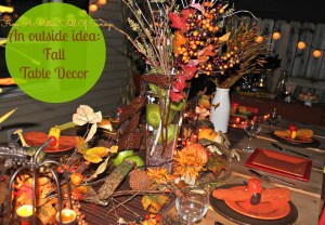 fall table decor idea 1