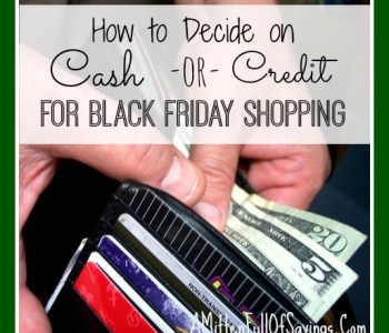 Cash Vs. Card for Your Black Friday Shopping