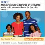 Sears Coupon For Free Clearance Items