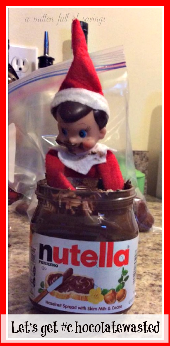 lets get chocolate wasted elf on the shelf ideas