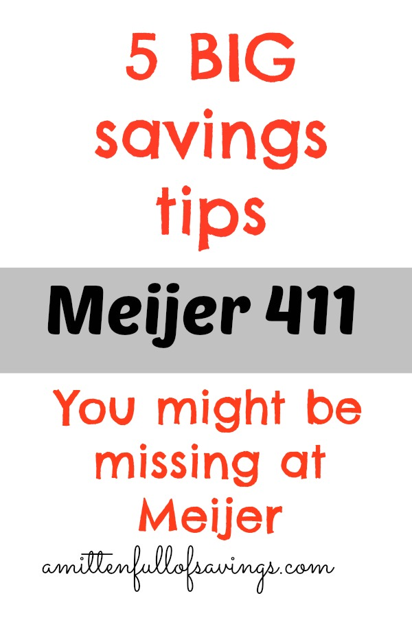 5 Ways You Might Be Missing BIG Savings at Meijer. 5 Ways You Might Be Missing BIG Savings at Meijer   A Mitten Full