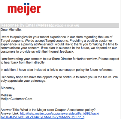 meijer coupons, meijer competitor coupon policy