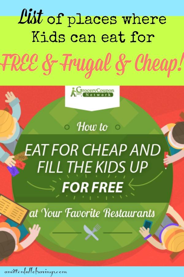 Big List Of Places Where Kids Eat Freecheap A Mitten Full Of