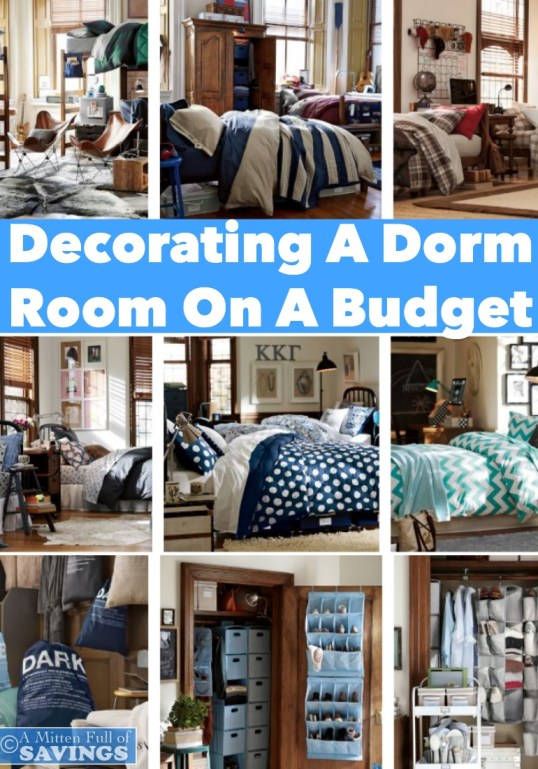 decorating a dorm room on a budget a mitten full of savings