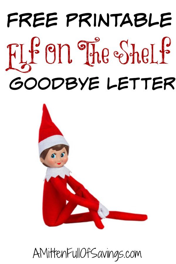 Goodbye Letter From Elf On The Shelf Template Printable Elf On The Shelf Goodbye Letter This Worthey