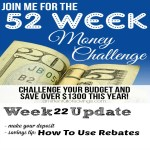 52 Week Money Challenge: How To Use Rebates