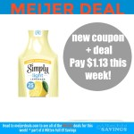 Coupon for Simply Light Juice + Meijer Deal {2 deals}