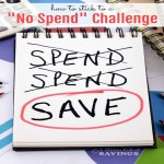 "How to Stick to a ""No Spend"" Challenge"