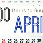 100 Items to Buy In April