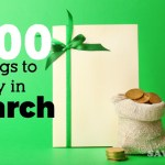 100 Items to Buy in March