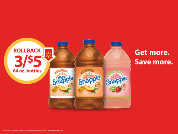 Snapple Rollback Deal