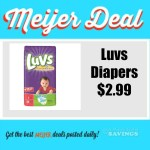 Meijer: Luvs Diapers .99 cents- $2.99 This Week (including mPerk only deal)