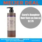 Meijer: Carol's Daughter Hair Care deals