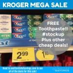 Kroger MEGA: FREE Crest Toothpaste + Other GREAT Crest/Oral B Deals