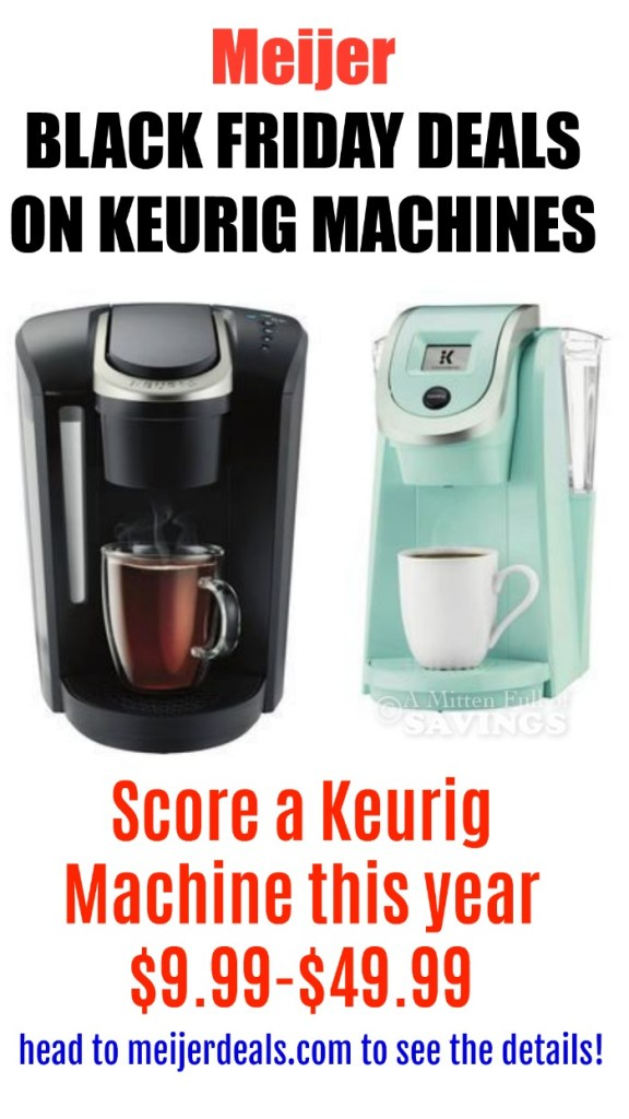 Who has the best deals on Keurig coffee machines on Black Friday