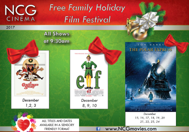 Free family Holiday Films at NCG