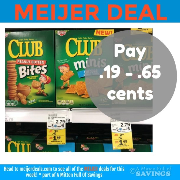 Keebler Cracker Meijer Deal