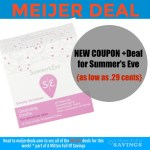 Meijer: NEW COUPON + Deal for Summer's Eve