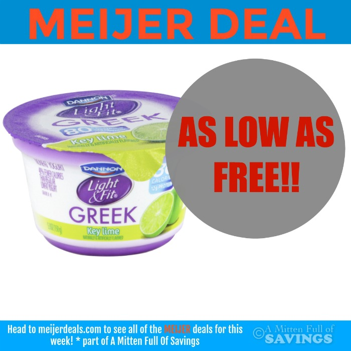 Meijer: Dannon Light + Fit Yogurt As Low As FREE!!!