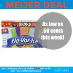 Meijer: Flavor Ice for as low as .50 cents
