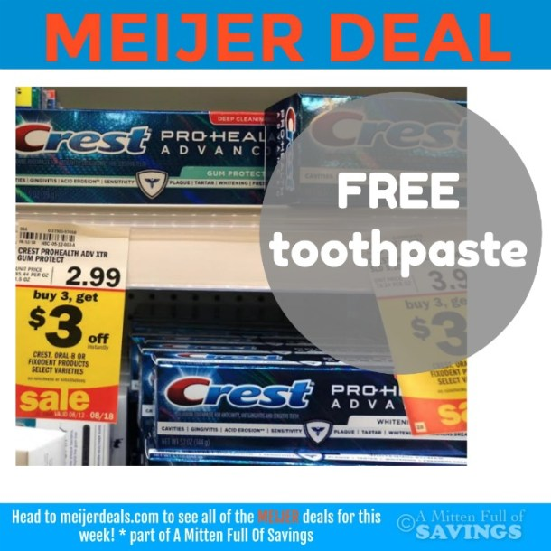 Crest Toothpaste at Meijer