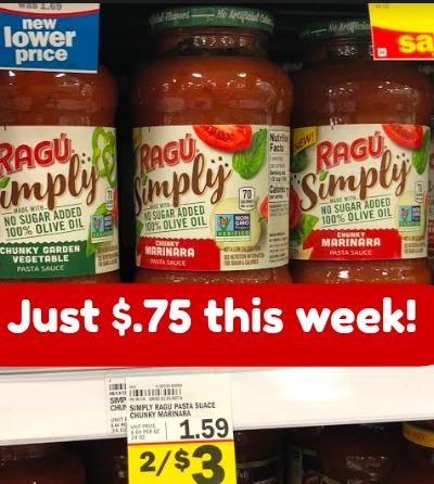 Meijer: Ragu Pasta Sauce - $.75- $1.00 This Week