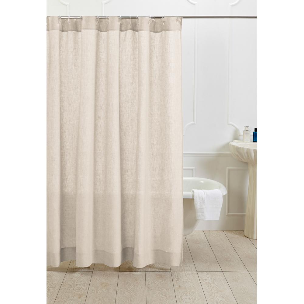 damara linen shower curtain ivory amity home