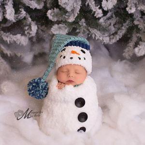 282dc0ab9 Crochet Newborn Santa Hat and Pants Pattern | AMK Crochet