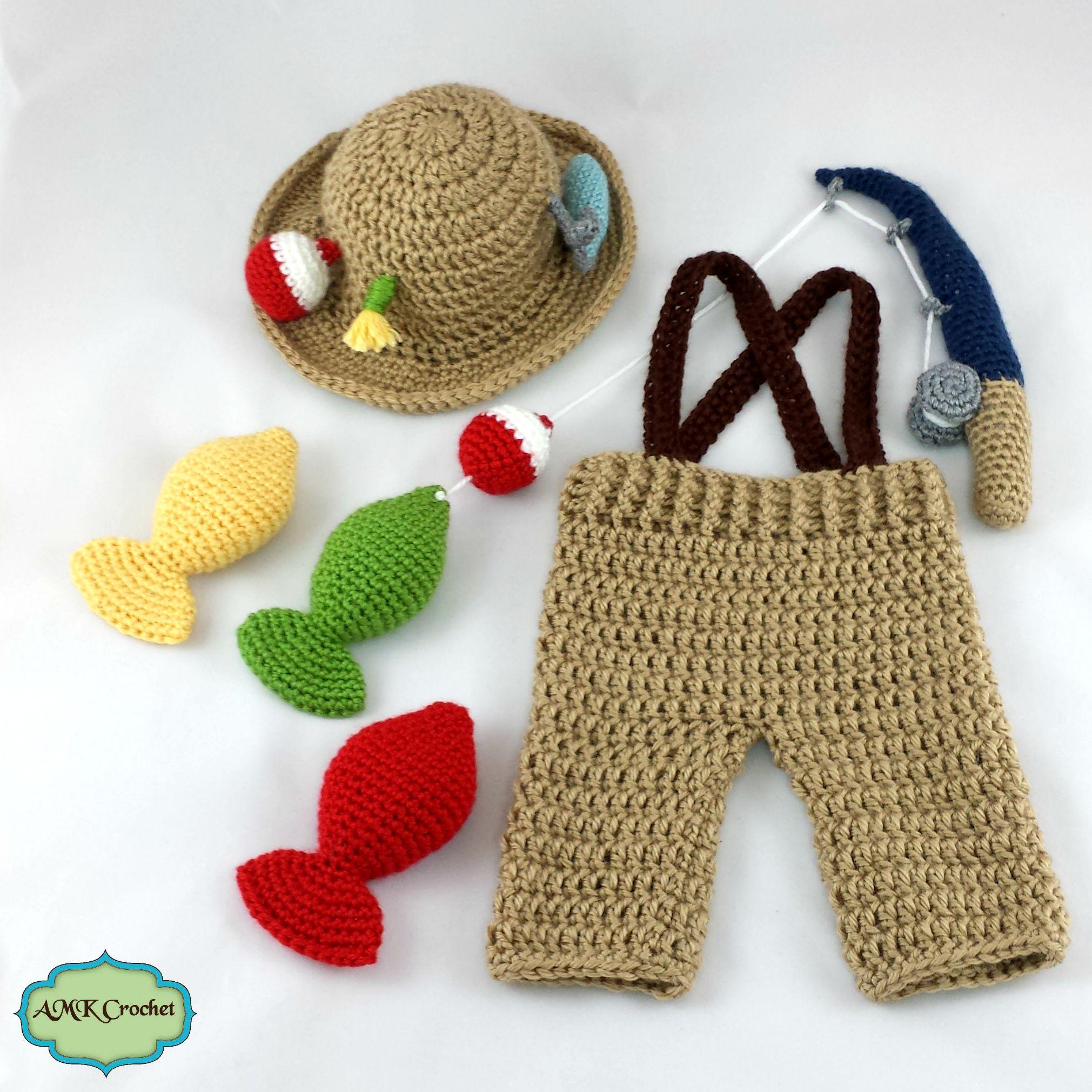 Crochet Newborn Fisherman Outfit Pattern Amk Crochet