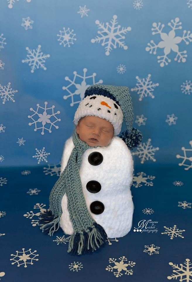 Crochet Newborn Snowman Hat And Cocoon Pattern Amk Crochet
