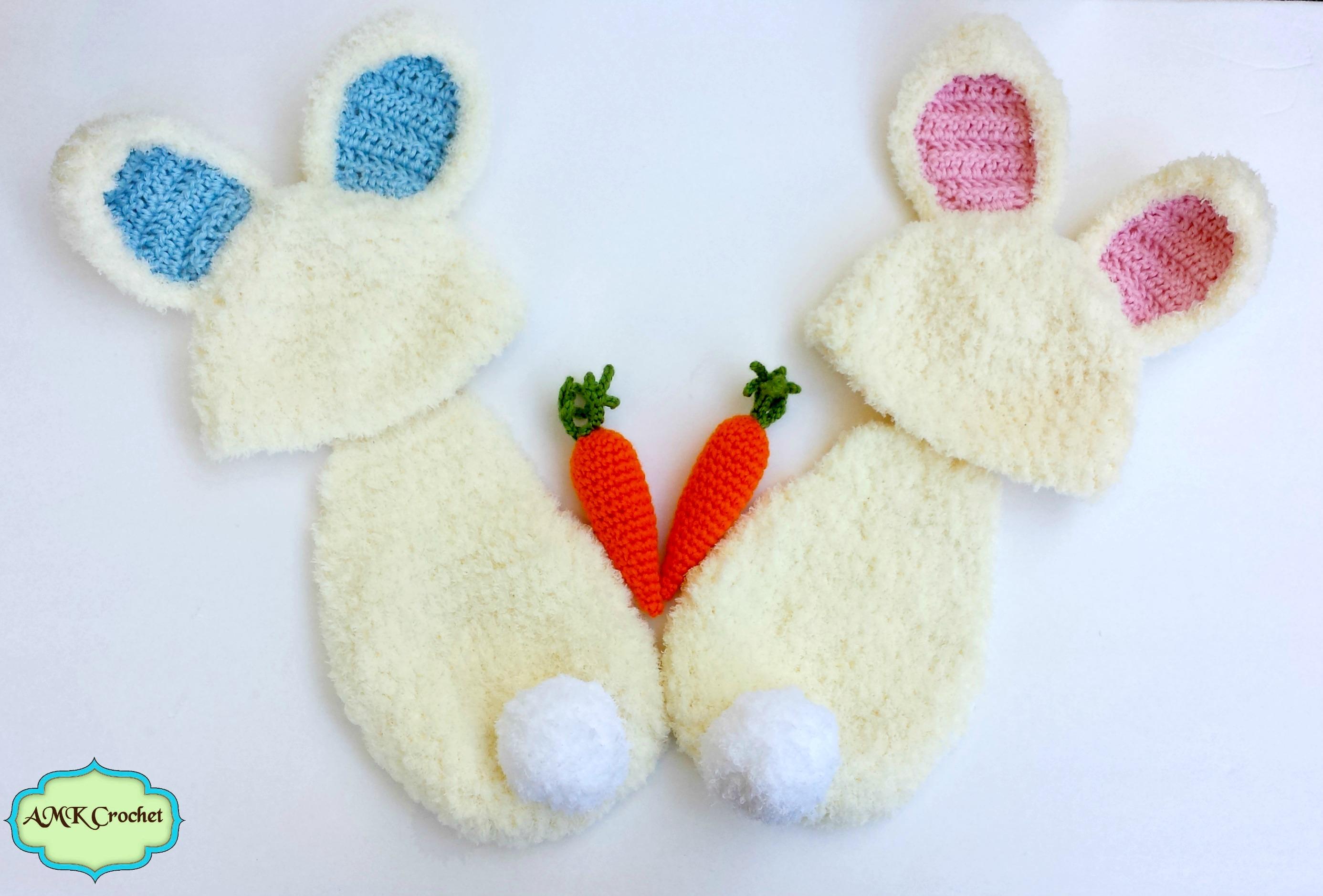 Crochet Newborn Fuzzy Bunny Hat and Cape Set with Amigurumi Carrot ...