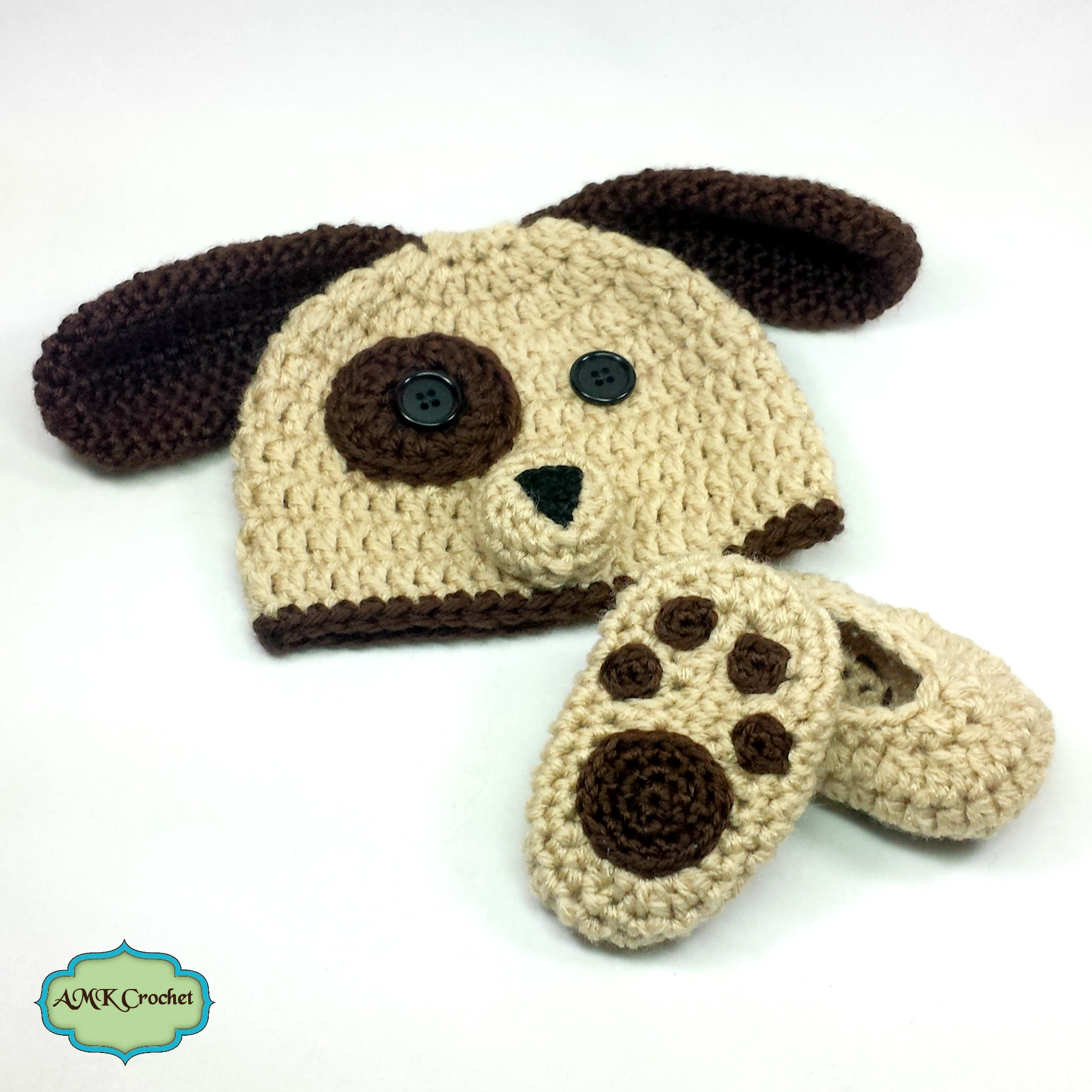 Newborn puppy hat and matching paw print booties photo prop newborn puppy hat bankloansurffo Gallery