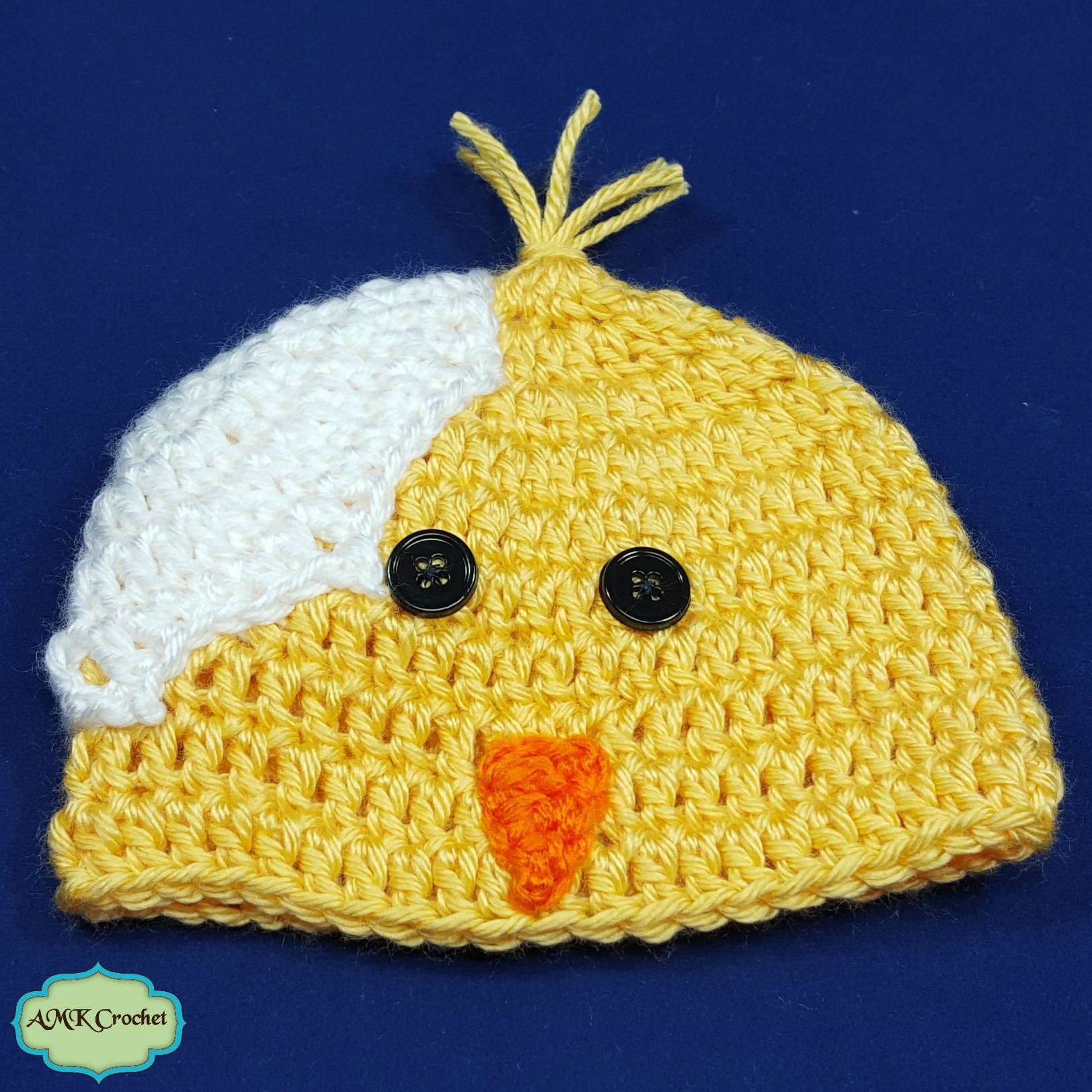 Newborn Easter Chick Hat and Cocoon Photo Prop Pattern | AMK Crochet