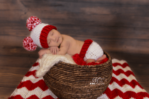 Crochet Pom-Pom Valentine's Day Hat and Diaper Cover Set Pattern
