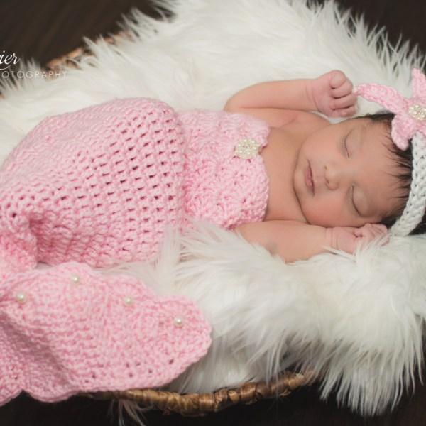 Crochet Baby Photo Prop Patterns Free : Crochet Newborn Mermaid Photo Prop Pattern AMK Crochet
