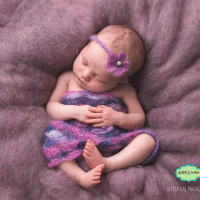 Newborn Baby Girl Crochet Lace Flower Headband and Dress Photography Prop Pattern by AMKCrochet.com