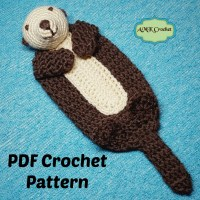 Crochet Baby Sea Otter Lovey Pattern by AMKCrochet.com