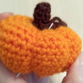 Crochet little pumpkin