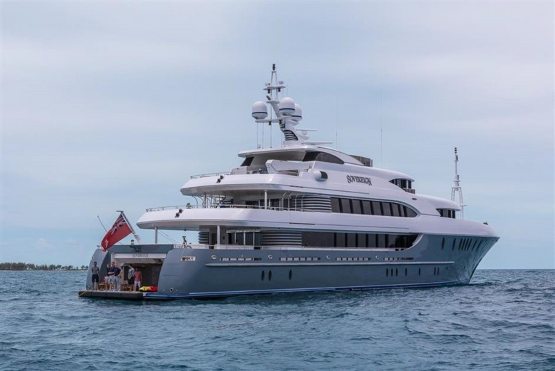 For Sale At 33M The Recently Refit 180 Foot Sovereign Motor Yacht By Newcastle Shipyard