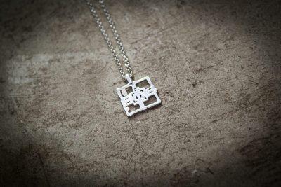 TPT3 - Small silver Ta Prohm on silver chain